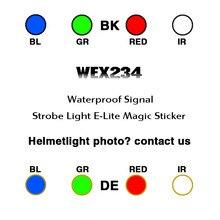 Шлем стробоскоп сигнальная лампа для выживания водонепроницаемая лампа для верховой езды WADSN softair E-LITE шлем световая полоса с ИК 8 цветов WEX234