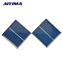 AIYIMA 2Pcs Solar Panels Polycrystalline Silicon Solar cell Power Charger 5V 160mA 80*80MM DIY Portable Solar Panel
