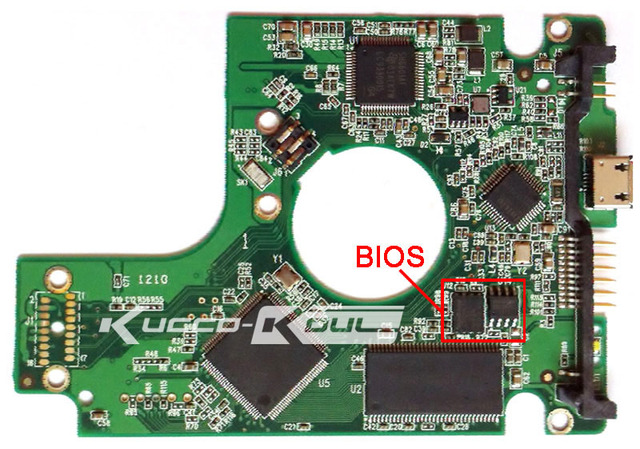HDD PCB circuit board 2060-701675-004 REV P1 for WD 2.5 USB hard drive for WD5000BMVV/KMVV  WD6400BMVV/KMVV WD7500KMVV WD10TMVV