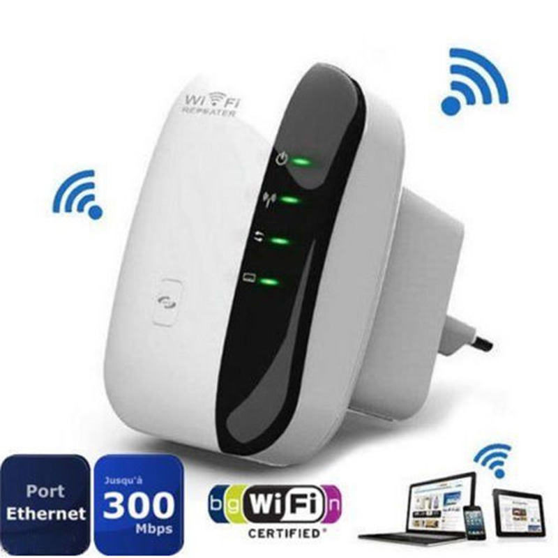 300Mbps EU Plug Wireless N 802.11N/B/G WPS WiFi Repeater Network for AP Router Range Signal Expander Booster Extend Amplifier