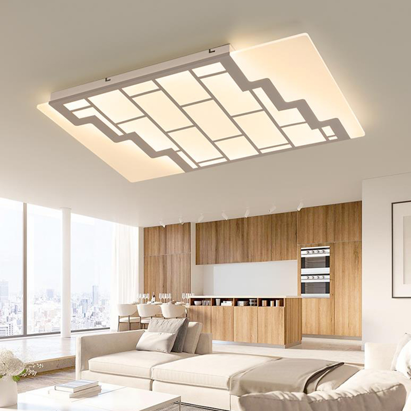 Plafonniers LED contemporains nouveauté acrylique éclairage à la maison simple Ultra mince stratifié salon dimmable LED plafonniers