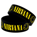 1PC 1'' Wide Band Nirvana Silicone Bracelet for Music Fans