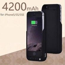 Новый Портативный 4200 мАч Power Bank Дело Телефон Внешняя Батарея Резервного Копирования Дело Зарядное Устройство Для iPhone 5 5S SE Случае Батарея
