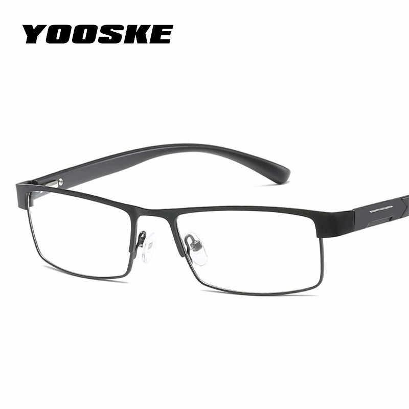 a3ae1ce4edc YOOSKE Non spherical lens Reading Glasses Men Titanium alloy Presbyopia  Eyeglasses with diopters Hyperopia Prescription Eyewear