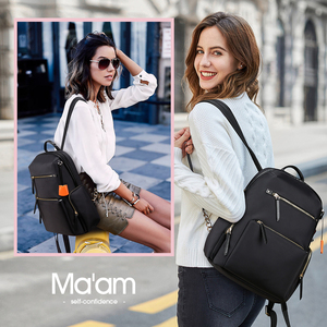 Image 2 - BOPAI 2020 Women Backpack Waterproof OL 14 Inch Women Laptop Backpack Plecak Black Bagpack Travel Business Fashion Mochila Mujer