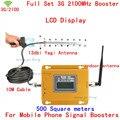 Novo Reforço LCD!!! Mini 3G W-CDMA UMTS 2100 Mhz Mobile Phone Signal Booster, WCDMA 3G Repetidor de Sinal + 13db Yagi Antenna 1 Conjunto