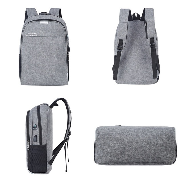 Laptop Backpack USB Charging 15.6 inch  Theft Women Men School Bags For Teenage Girls College Travel Backpack  Male 1