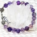 Natural pedra semi-preciosa strand pulseiras de contas 8mm roxo popcon ágata rodada beads tomada de jóias mulheres 7.5 polegadas B2053