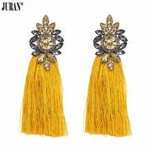 Juran Модные женские богемные висячие серьги с кисточками для