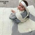 Cobertor do bebê Rosa Coelho Bonito Branco Cinza Para Cama Sofá cobertor de lã Cobertores Mantas Colcha Toalhas de Banho Esteira do Jogo Do Presente 73*105
