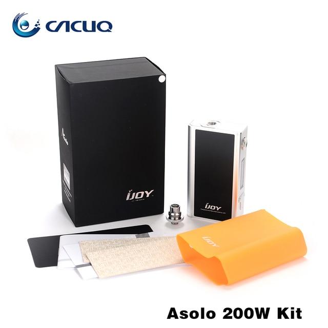 Asolo Ijoy originais 200 W Kit 5 W-200 W caixa mod enorme vape e cigarro grande potência sem bateria no pacote de cigarro e mod