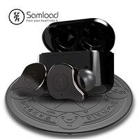 Samload Bluetooth 5,0 наушники с беспроводной зарядное устройство коробка и Волшебный Массив беспроводной зарядный коврик глубокий бас наушники для