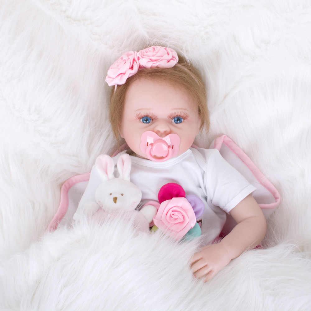 """55 см Reborn Baby Doll детский приятель подарок для девочек 22 """"ткани тела детские живые мягкие игрушки для букетов куклы Bebe кукла подарок на день рождения игрушки"""