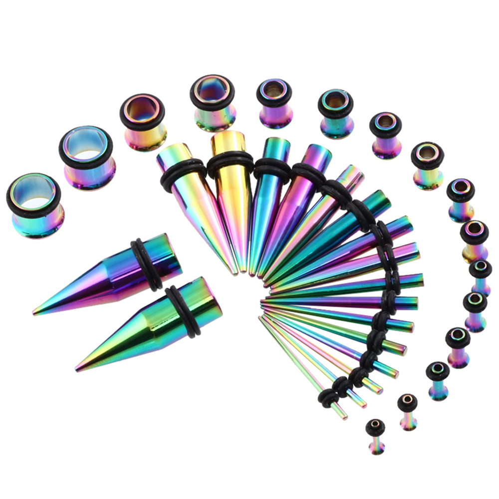 36pcs Lot Stainless Steel Ear Taper Kit 14g 00g Stretching Set With Plugs Tunnels Earring Expander Piercing Gauges Jewelry In Body From