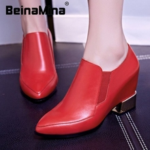 ladies real genuine leather flat shoes pointed toe  british leisure footwear brand fashion sexy quality shoes size 34-39 R08469