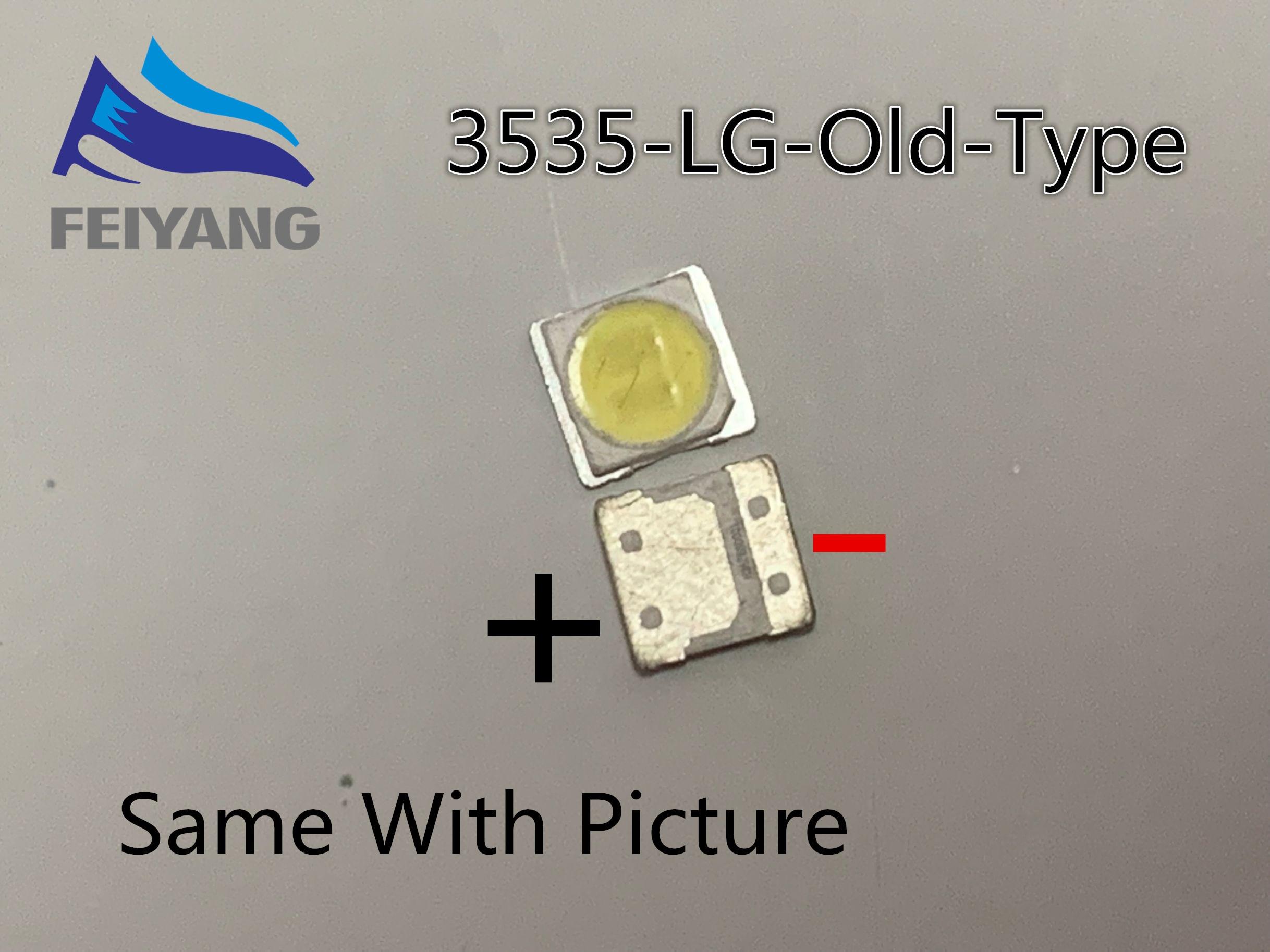 Para LG SMD LED 50 Pçs/lote 3535 6V CHIP de Branco Frio-2 2W Para TV/TV LCD Backlight Aplicação