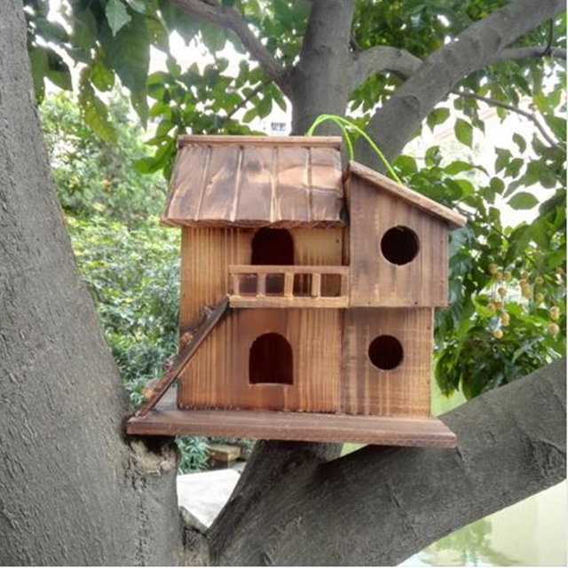 25*25*16 cm Wood preservative outdoor birds nest 3