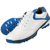 waterproof breathable patent design men outdoor sport shoes anti-skid super light good grip comfortable leather golf shoes