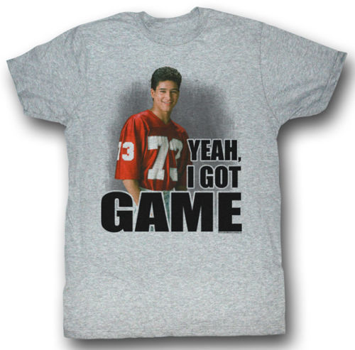 Saved By The Bell 1990s Slater Yeah I Got Game Adult T Shirt ...