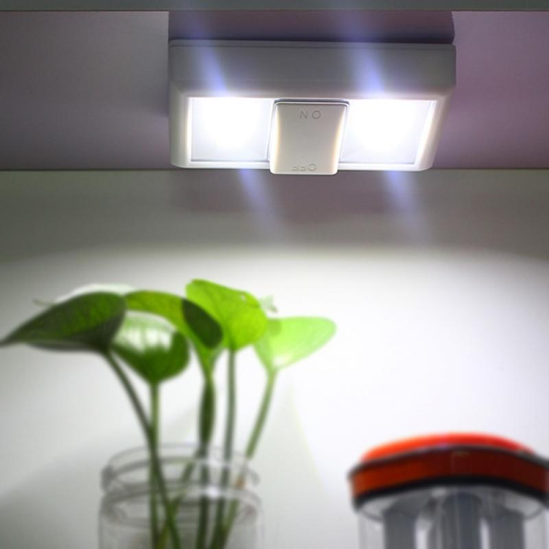 Клейкий переключатель COB светодиодный светильник настенный светильник на батарейках шкаф свет #027