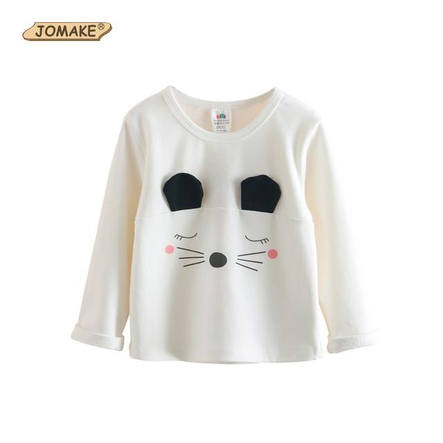 2 7 T Niñas T shirt Otoño Lindo Gato de Dibujos Animados Los Niños ... 0c45fc48dc968