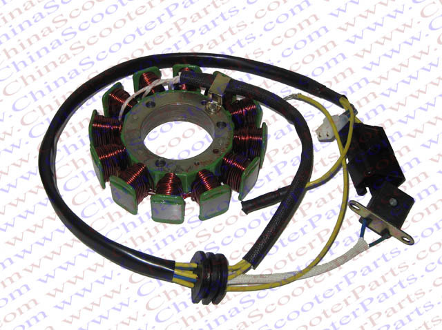 12 bobines 6 fils 115 MM magnéto Stator enroulement pour Kazuma XinYang Jaguar 500 500CC ATV Quad pièces