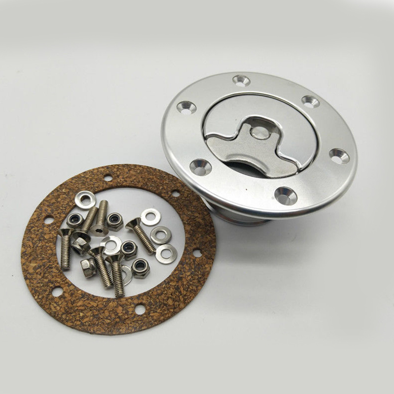 Billet Aluminum Aircraft Style Fuel Cell Gas Cap With 6 Hole Anodized