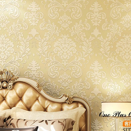Damask Wallpaper Wall Paper Roll Wallcovering Europe Vintage Home Decor Beige Light Green Blue White Papel De Parede In Wallpapers From