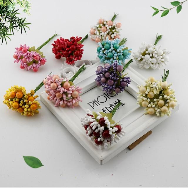 20 Pcs Berry Benang Sari Bunga Palsu dengan Harga Murah Buatan Bunga untuk  Rumah Pengantin Pernikahan 12c1c40a62