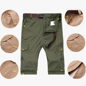 Image 5 - Mountainskin 7XL גברים של קיץ מהיר יבש נשלף מכנסיים לנשימה מכנסיים חיצוני ספורט טיולי טרקים דיג מכנסיים VA110