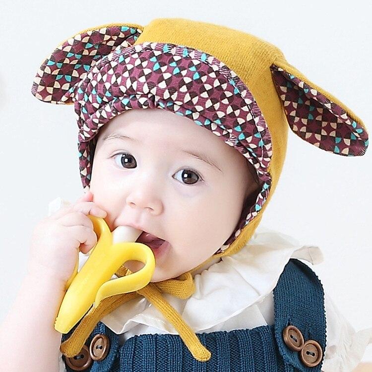 6-24M baby Hats Cute Rabbit Long Ear Cap Infantil Bonnet Kids Boys Girls Photo Prop Korean Style Baby Beanies