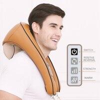 U Shape Electrical Shiatsu Back Neck Shoulder Body profession Massager Infrared Heated Kneading fashion Car Home office Massagem