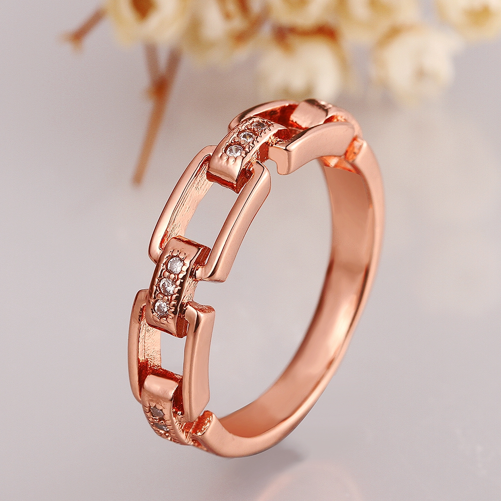 Personality creative lady jewelry romantic sweet style alloy jewelry geometry joker temperament zircon ring valentines day gift