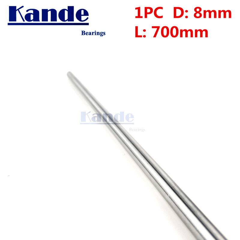 1pc d: 8mm 3D printer rod shaft d:8mm 650mm 700mm 750mm 800mm linear shaft chrome plated rod shaft CNC parts Kande kande bearings 1pc d 16mm 3d printer rod shaft 16mm linear shaft 230mm chrome plated rod shaft cnc parts 100 700mm