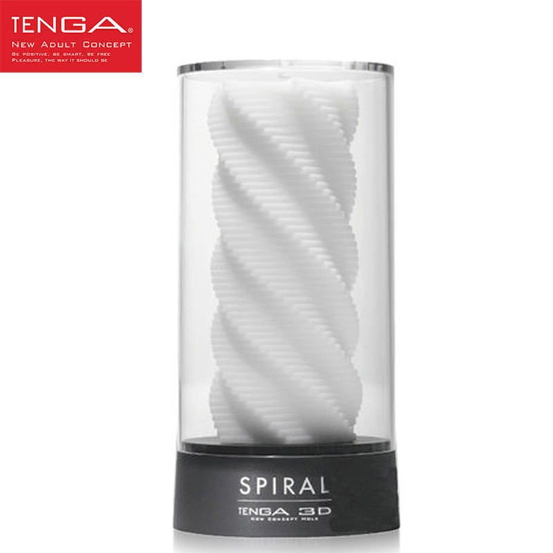 TENGA 3D Spiral Masturbation Cup Male Masturbator Sex Cup for Men Training Soft High-grade Aircraft Cup Sex Toys for Men 10 speed male auto telescopic rotating aircraft cup voice vibrating masturbation cup sucking masturbator sex products for men a3
