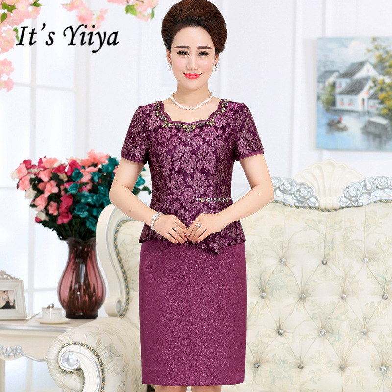 5d695a36fcd Detail Feedback Questions about It s Yiiya Mother of the Bride Dresses Plus  Size Luxury Short Sleeve Lace Fashion Designer Elegant Mother Dress M057 on  ...