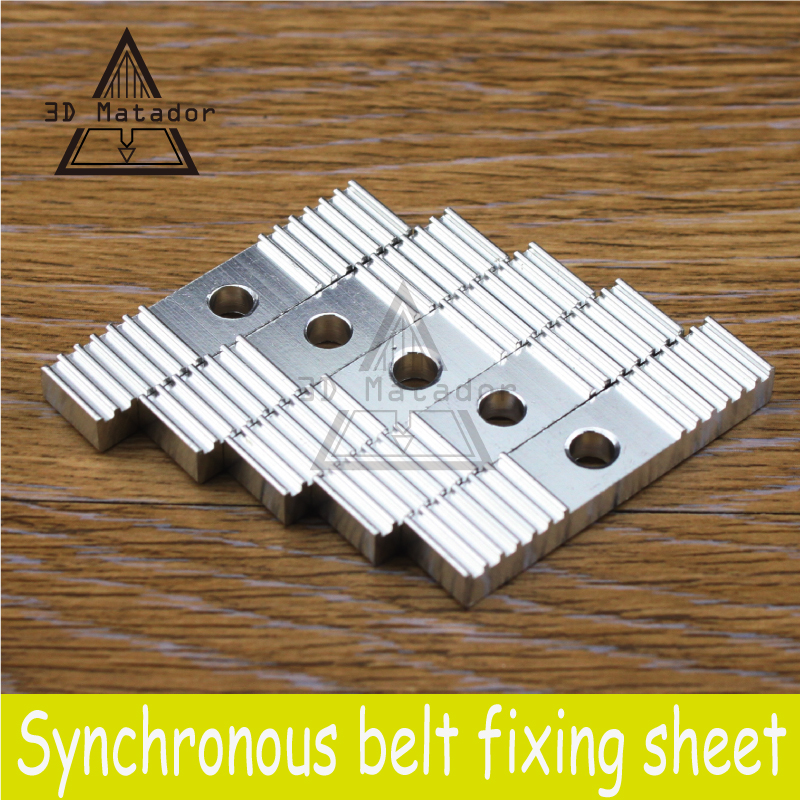 DIY GT2 Timing Belt Fixing Tooth Piece Pitch 2mm Clamp 9*40mm For 3D Printer CNC