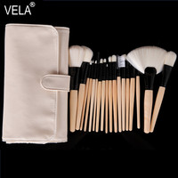 Professional Beige 18pcs Makeup Brush Set High Quality Makeup Tools Kit Superfine Hair Antibiosis Antianaphylaxis