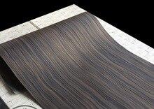 цена на 1Pieces  L:2.5Meters Wide:55cm  Thickness:0.25mm  Technology Wave Pattern Macassar Ebony Wood Veneer(back Nonwoven fabric)