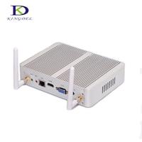 Cheap i3 Mini PC Windows 10 i3 4005U Fanless Desktop computer with HDMI VGA Gigabit Lan 300M Wifi
