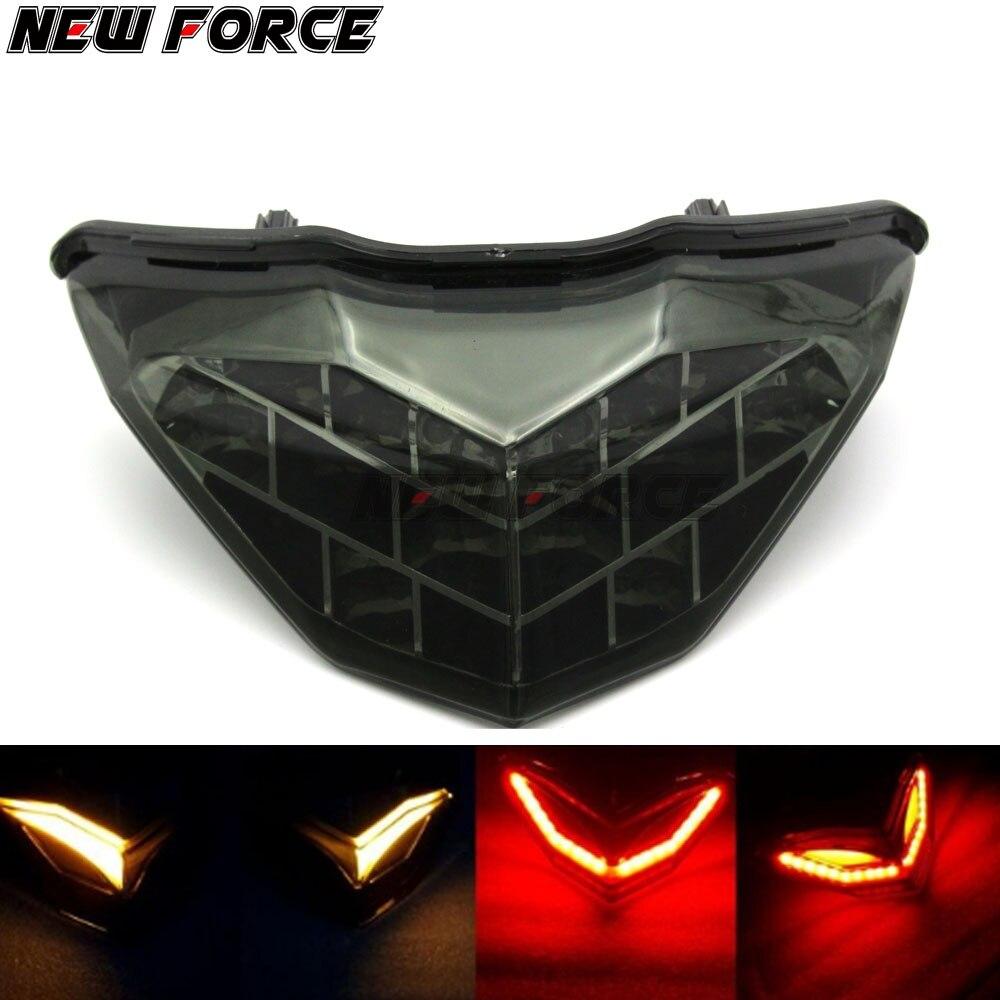 New Motorcycle Taillight Brake Light Turn Signals Indicator Rear font b Lamp b font for Kawasaki