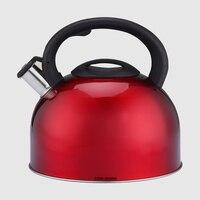 3l Нержавеющаясталь чайник со свистком качество Чай чайник красный чайник свистит носик блокировка крышки плите чайник со свистком