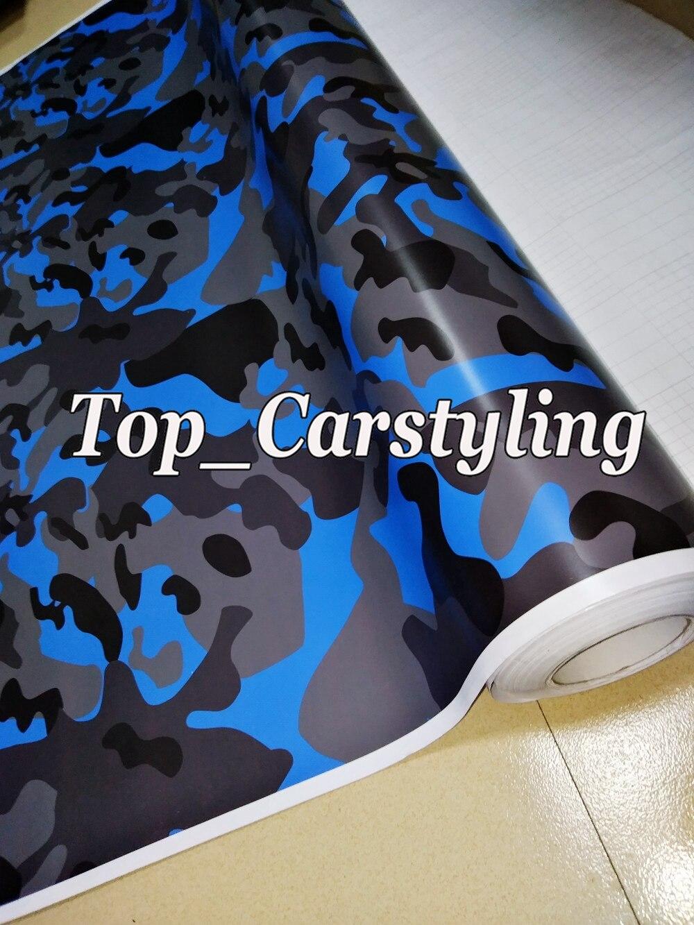 ubran Blue Black Camouflage Vinyl Car wrap foil Camo Car Sticker truck boat Wrap air Bubble Free 1.52x10m/20m / 30m /roll стоимость