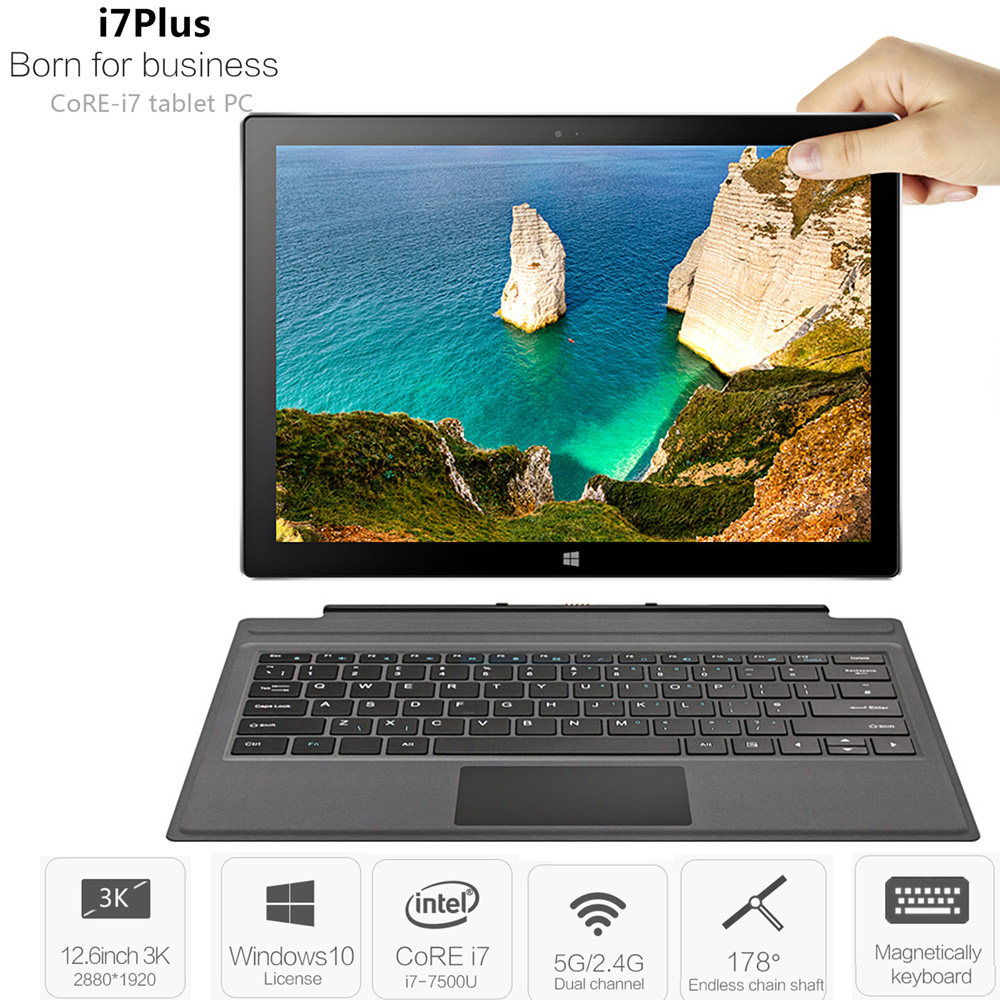 VOYO VBOOK I7 Plus 2 In 1 Tablet PC 8GB+256GB 12.6'' Windows 10 Intel Core I7-7500U 2.7GHz Dual WiFi 5MP Tablets PC Type-C HDMI