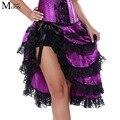 MOONIGHT Mujeres Atractivas Púrpura Falda Para Corsé Bailarina de Cabaret Burlesque Fancy Falda Falda Outfit despedida de Soltera
