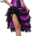 MOONIGHT Sexy Women Purple Burlesque Skirt For Corset Dancer Cabaret Fancy Skirt Hen Party Outfit Skirt