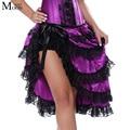 MOONIGHT Sexy Women Purple Burlesque Skirt For Corset Dancer Cabaret Fancy Skirt Hen Party Outfit Skirt