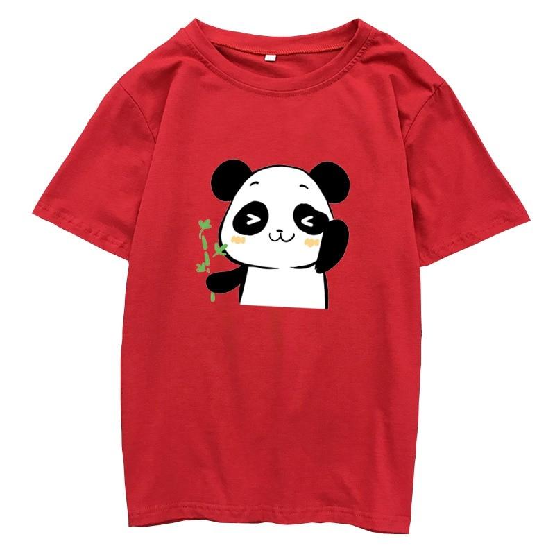2018 Estate Nuovo Bella T-shirt Manica Corta Camicette Donne Harajuku Kawaii Panda Del Fumetto Di Stampa Allentato Magliette E Camicette Femminile Maglietta Casual Divertente Tee Vendita Calda Di Prodotti