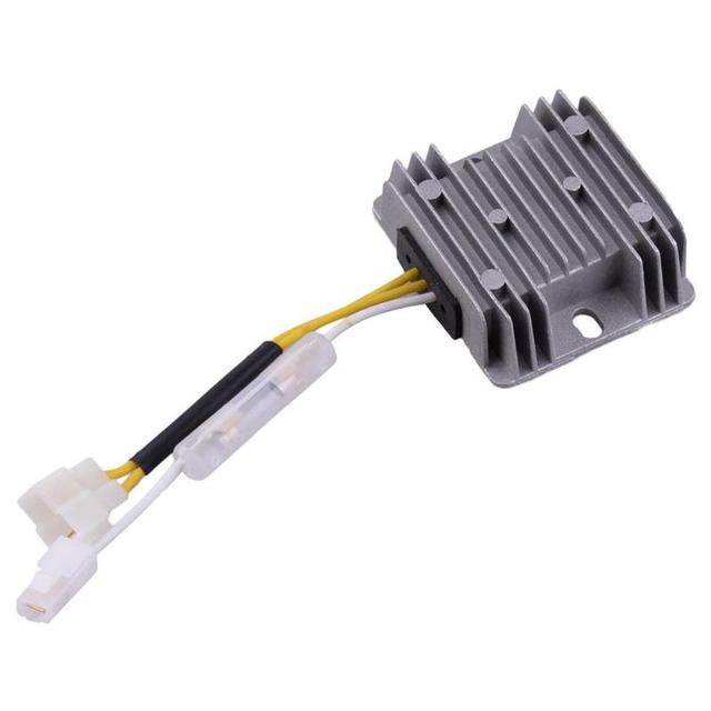 US $6 86 33% OFF|12V Motorcycle AVR Automatic Voltage Regulator Rectifier 3  Wires in Two Connector For 186F Single Phase 5KW Diesel Generator-in