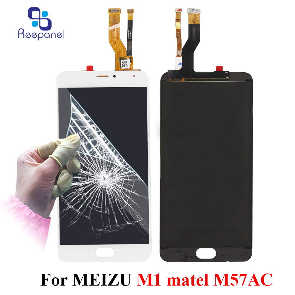 Reepanel For Meizu M1 Metal M57AC LCD Display Touch Screen Digitizer Assembly for Meilan Metal Telecom Replacement Parts